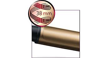 Diametro di 38 mm per ricci voluminosi e onde naturali
