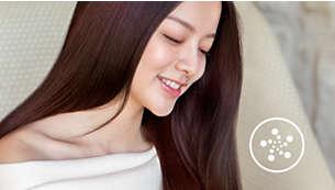 4 倍以上的負離子護髮功能,讓秀髮極致閃亮