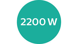 Potencia profesional de 2200 W para un peinado de peluquería