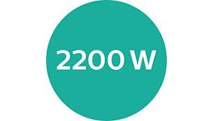 Professionelle Leistung von 2200W für ein perfektes Ergebnis wie vom Friseur
