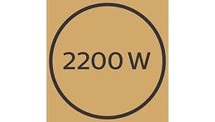 Professzionális 2200 W-os hajszárító a tökéletes eredmény érdekében