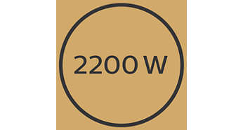 Professionelle 2200 W giver perfekte resultater som hos frisøren