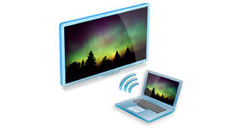 Wi-Fi MediaConnect to project your PC media files on your TV