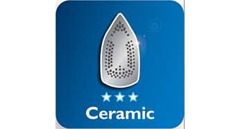 Keramikbügelsohle für bessere Gleitfähigkeit
