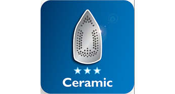 Ceramic soleplate for better gliding performance