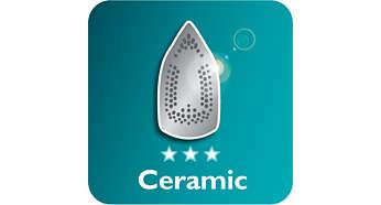 Base de cerâmica desliza melhor sobre os tecidos