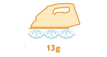 Semburan uap terus-menerus hingga 13 g/mnt