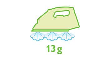 Jatkuva höyryntuotto jopa 13 g/min