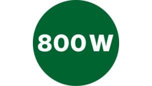 Powerful 800 W motor