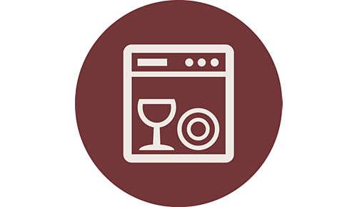 Vaatwasmachinebestendig voor gemakkelijk reinigen