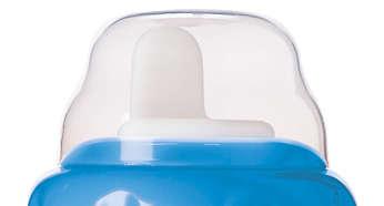 Tapa abatible a presión/boquilla limpia