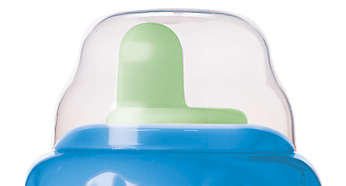 Snap-top lid keeps spout clean