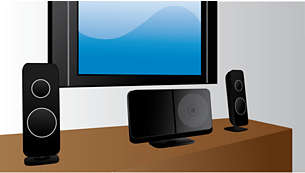 Compact design that fits with your flat TV