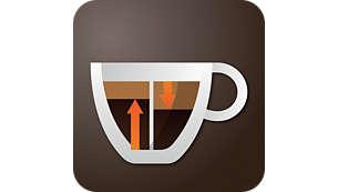 Amplificaţi stratul de cremă şi structura cafelei