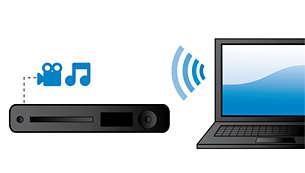 Conector de red DLNA para disfrutar de música y vídeo desde el PC