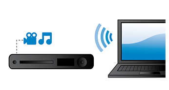 DLNA Network Link to enjoy music & videos from your PC