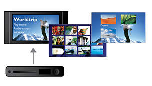 Certifié DivXUltra pour une lecture améliorée des vidéos DivX