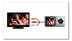 Composite TV-out for playing and sharing videos on TV