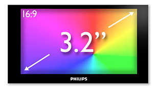 "3.2"" HVGA colour display for superb video enjoyment"