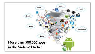 Accesso a migliaia di applicazioni e giochi tramite Android Market