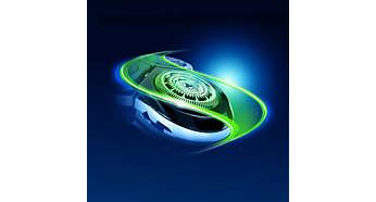 Sistema SkinGlide que minimiza la fricción para lograr más suavidad y menos irritación