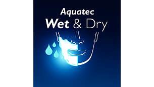 Těsnění Aquatec umožňuje pohodlné suché i osvěžující mokré holení