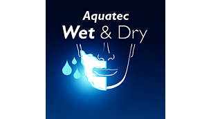 Aquatec seal for comfortable dry shaves and refreshing wet shaves