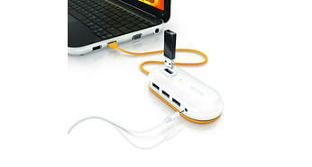 Extra power for high-power gadgets, e.g. external hard drive