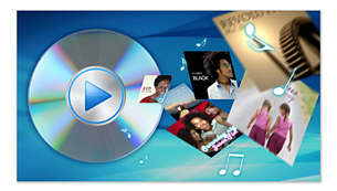 Play DVD, DivX ®, MP3, Non-DRM AAC, WMA, FLAC, OGG and JPG