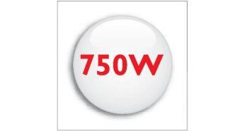 750 W powerful motor with minimal sound