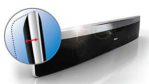 Diseño compacto y ligero en aluminio bruñido de calidad