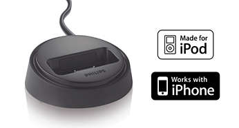 Volitelný dok pro pohodlné přehrávání ziPodu a iPhonu