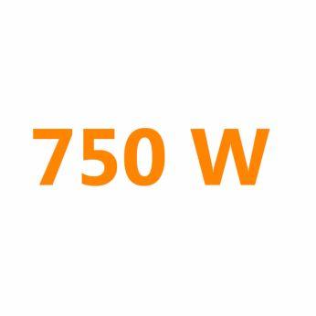 750 Watt for faster heating