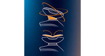 GyroFlex 雙動向立體貼面設計能隨著曲線輕鬆貼面