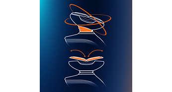 Sistema GyroFlex 2D que se ajusta fácilmente a las curvas