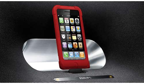 Plaats elke iPod/iPhone, zelfs in zijn hoesje