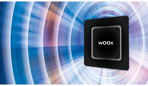 wOOx-teknik för fyllig och exakt bas utan distorsion