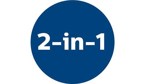 2-in-1-Funktion für die Reinigung von Böden und Möbeln