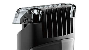 Contour-following comb for a precise and even trim