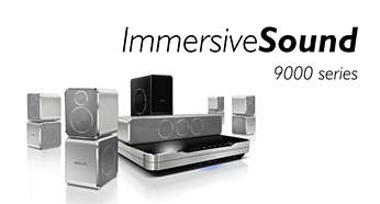 Designed to match Immersive Sound home theaters 9000 series