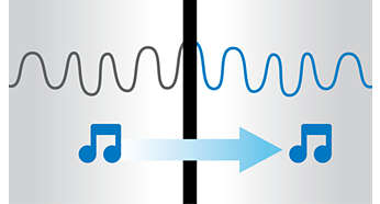 La tecnología sin interferencias ofrece un sonido de 360 grados perfecto