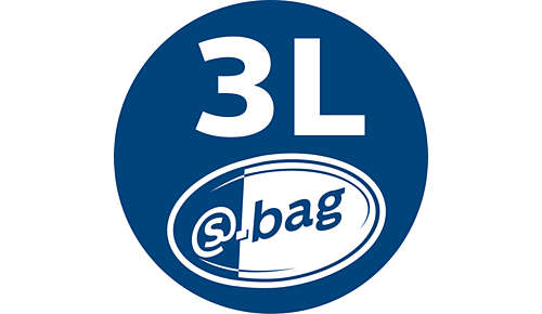 3 liter s-bag for long-lasting performance