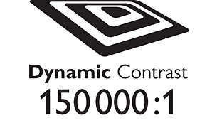 Dynamic contrast 150.000:1 for incredible rich black details