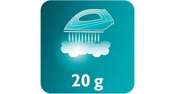 Vapor continuo de hasta 20 gr. / min para eliminar mejor las arrugas