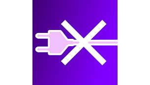 Kabelloser Betrieb für flexible Verwendung überall in Ihrem Zuhause