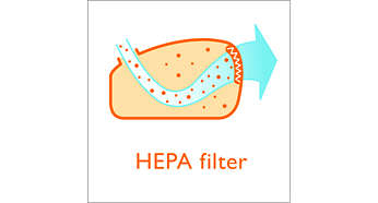 Clean Air HEPA filter for filtering fine dust