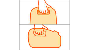 Twee handige handgrepen maken het apparaat eenvoudig te dragen