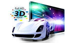 Full HD 3D Ready for a truly immersive 3D movie experience