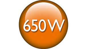 Motor puternic de 650 Waţi