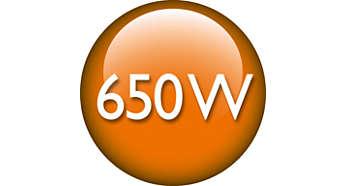 Nagy teljesítményű, 650 W-os motor